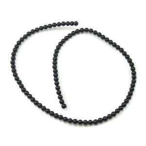 Onyx Black Smooth Rounds 4mm Strand