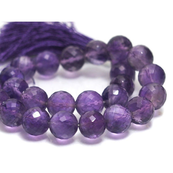 Amethyst Fine Faceted Rounds 8.5mm Strand