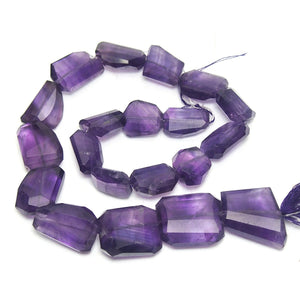 Amethyst Faceted Nugget Strand