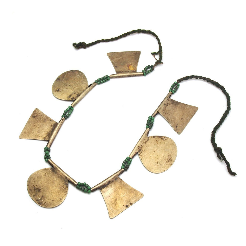 Antique Mapuche Square/Circle Necklace