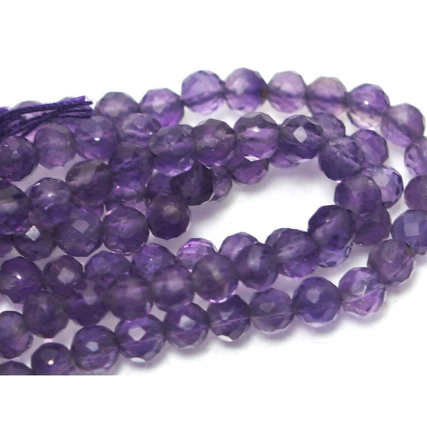 Amethyst Faceted Rounds 3mm Strand