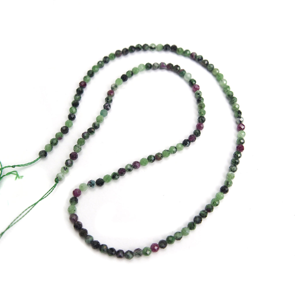 Ruby Zoisite 3mm Faceted Rounds