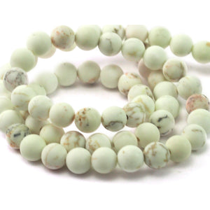 Howlite Matte Sooth Rounds 6mm Strand