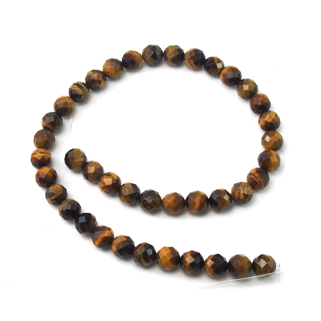 Tiger's Eye Faceted Rounds 10mm Strand