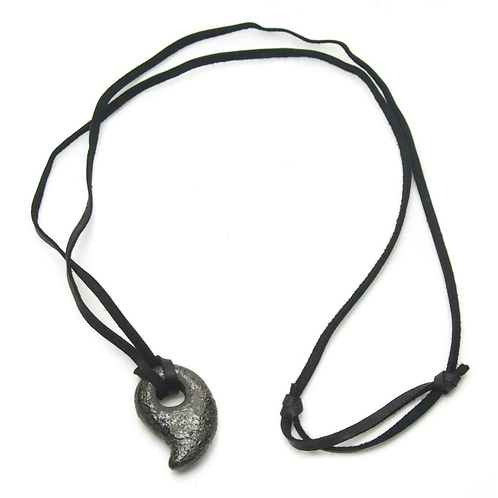 Ceramic/Sacred Ash Magatama Necklace, A
