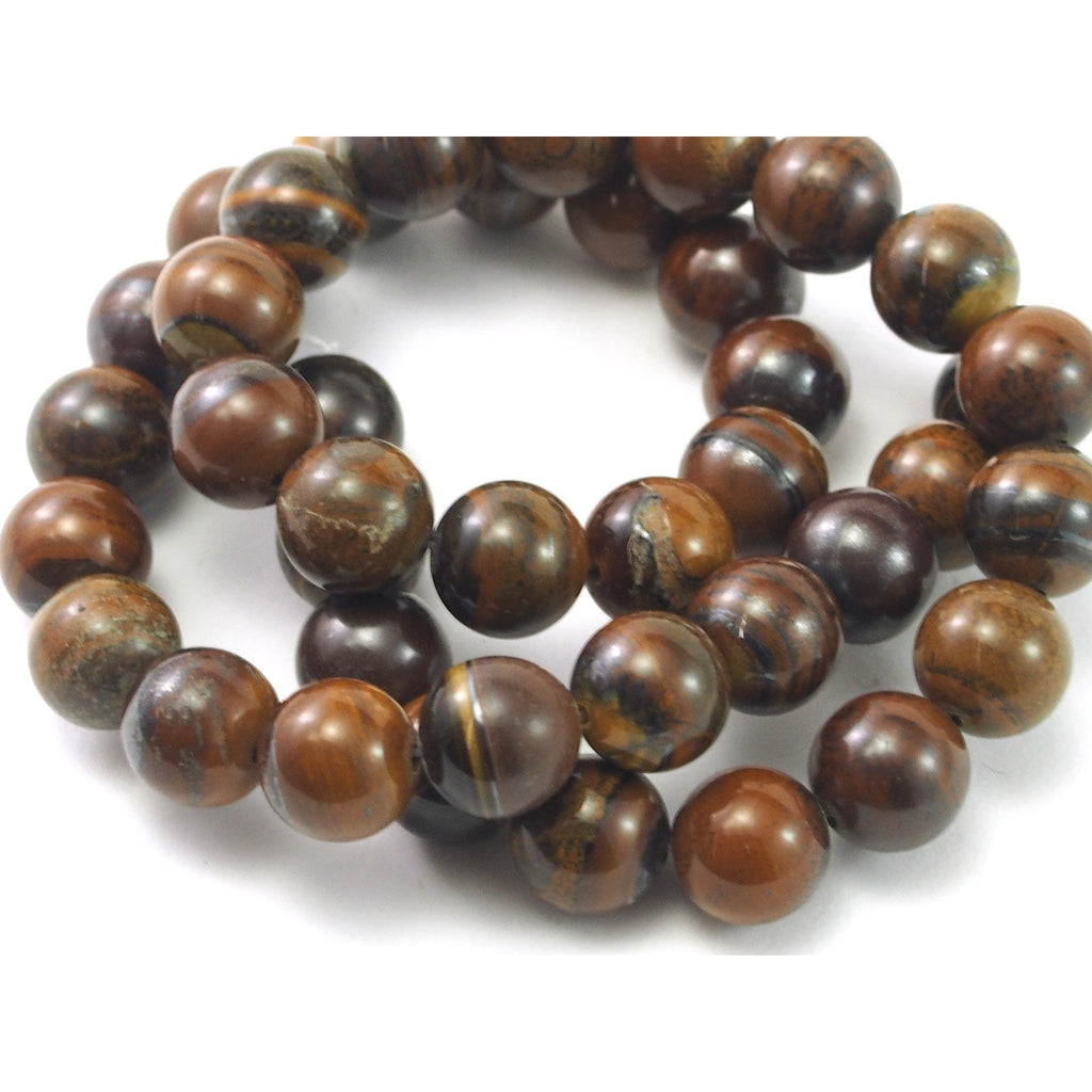 Tiger Jasper Faceted Rounds 10mm Strand