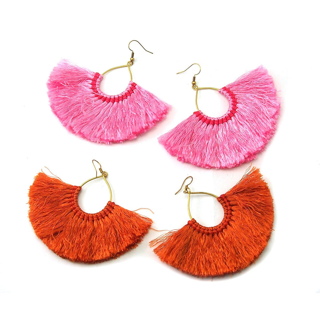 Tut Silk Beard Earrings