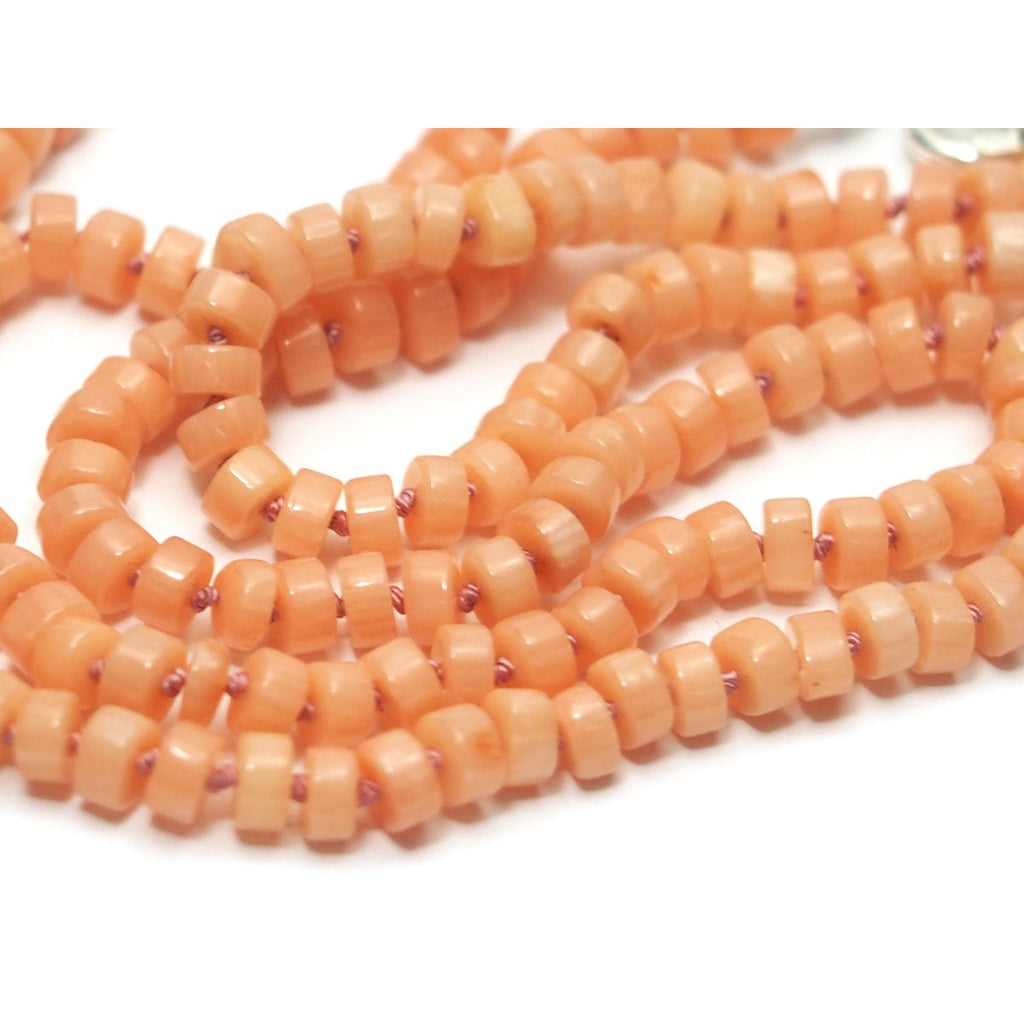 Coral Knotted Necklace with Sterling Silver Trigger Clasp