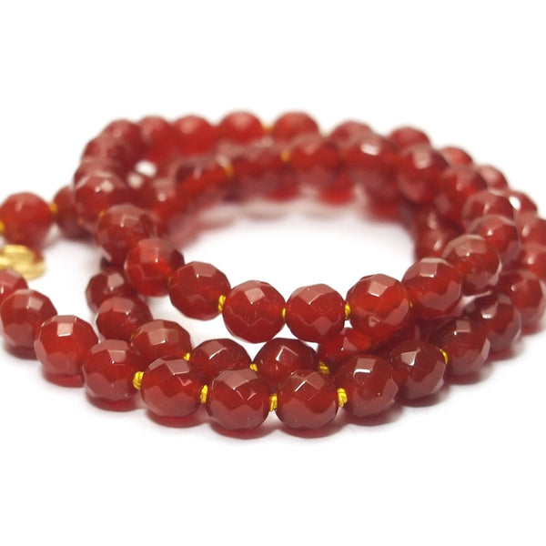 Carnelian Faceted Necklace with Gold Filled Trigger Clasp