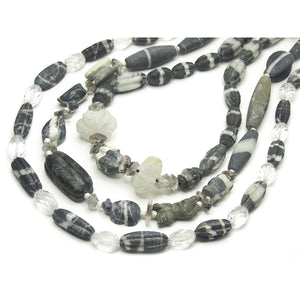 Natural Marble Dzi Style Bead Necklace, C