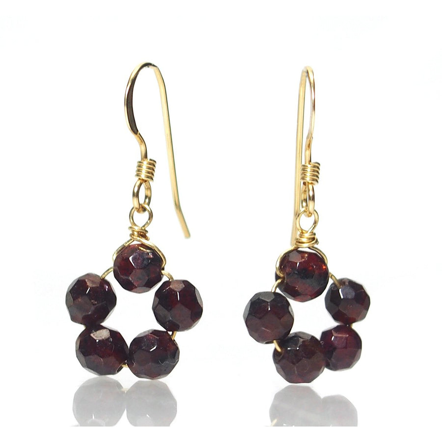 Garnet Earrings with Gold Filled Ear Wires