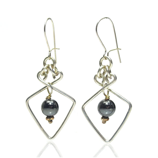 Hematite Earrings with Sterling Silver Ear wires