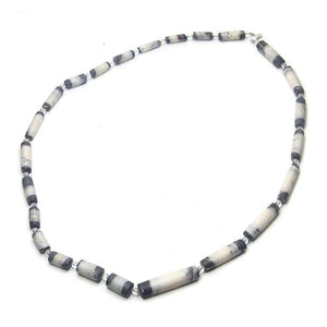 Natural Marble Dzi Style Bead Necklace, F