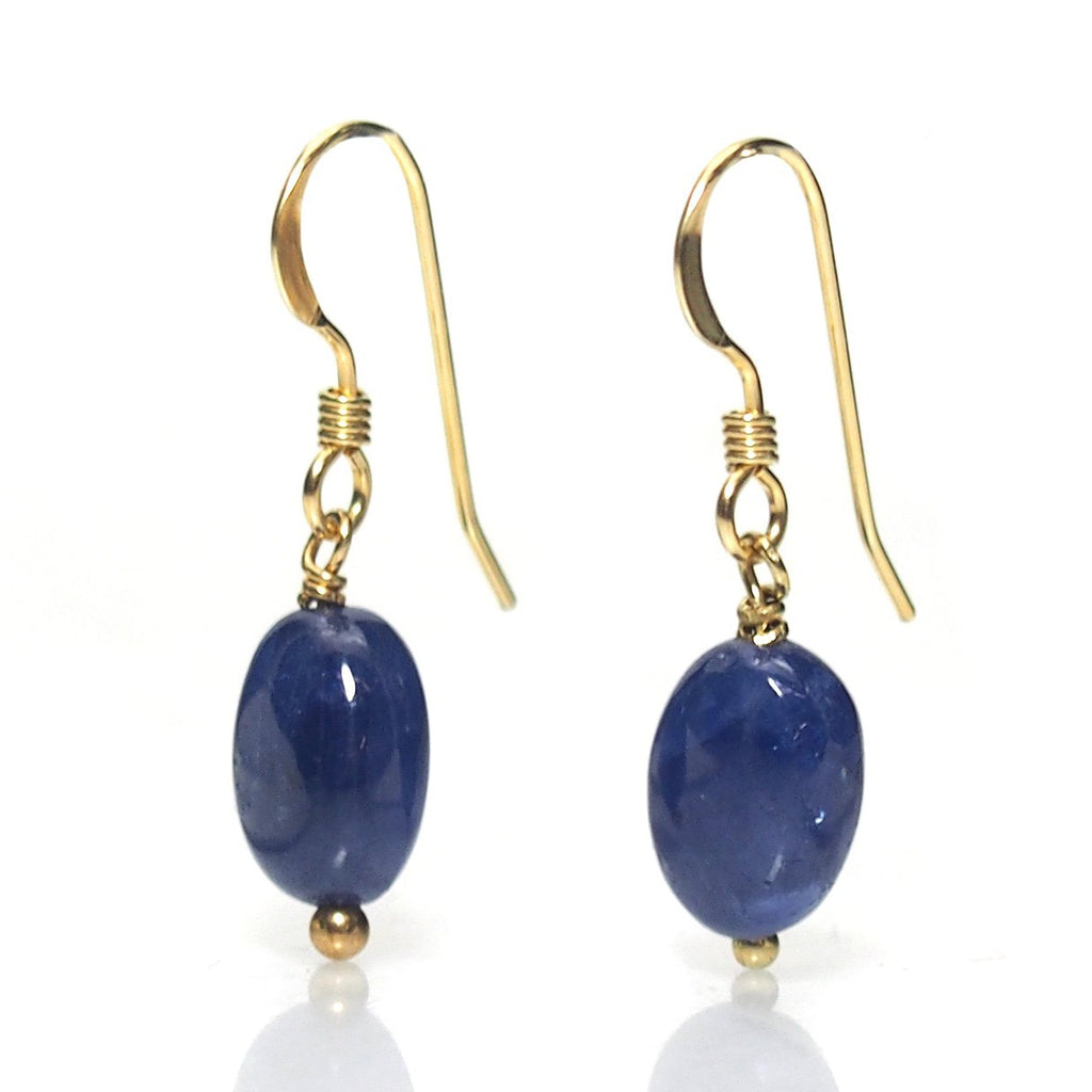 Sapphire Earrings with Gold Filled Ear Wire