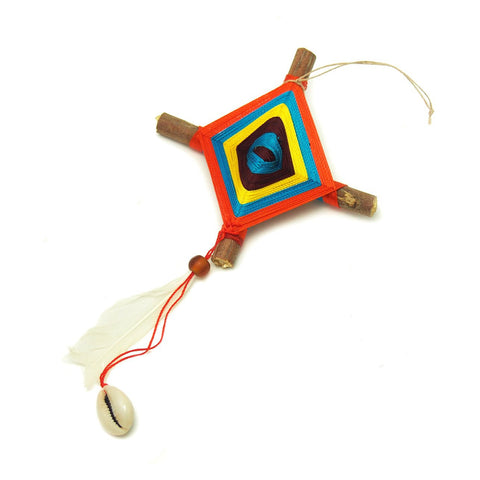 God's Eye With Bead Ornament