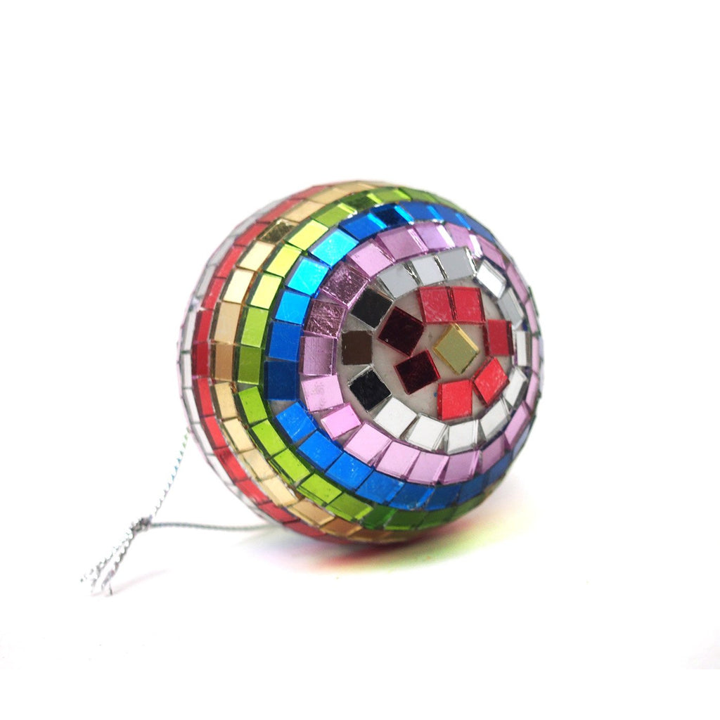 Spectrum Mirror Ball Ornament