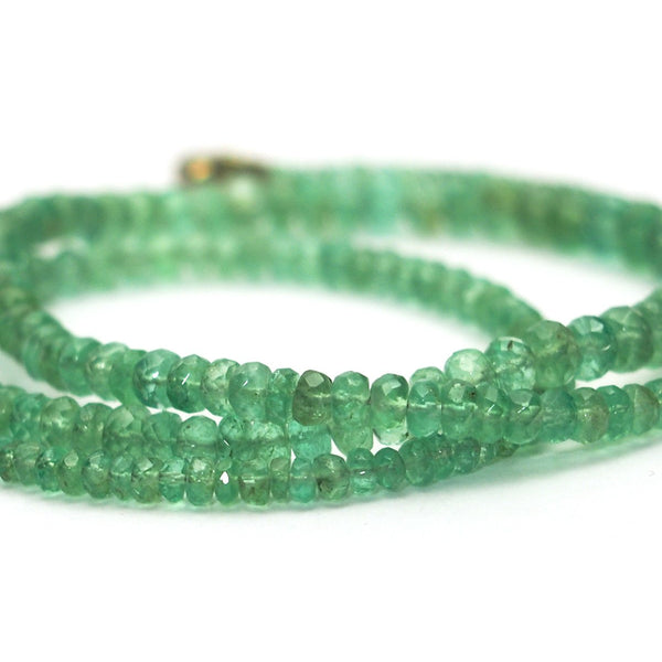 Emerald Faceted Necklace with Gold Filled Trigger Clasp
