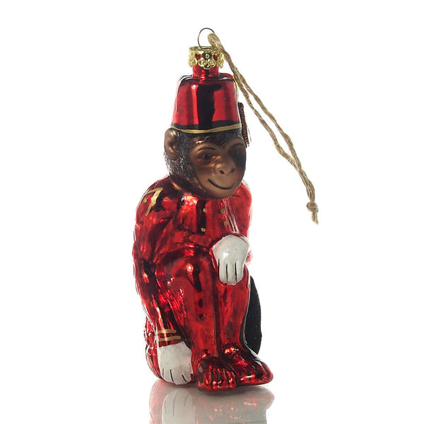 Bellhop Monkey Ornament