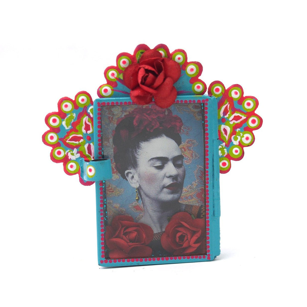 Mini Frida with Red Flower Nicho
