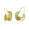 Gold Vermeil over Sterling Silver Fulani Inspired Hoop Earrings