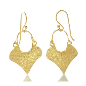 Gold Vermeil over Sterling Silver Brushed/Hammered Earrings