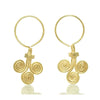 Gold Vermeil over Sterling Silver Three Spiral  Earrings