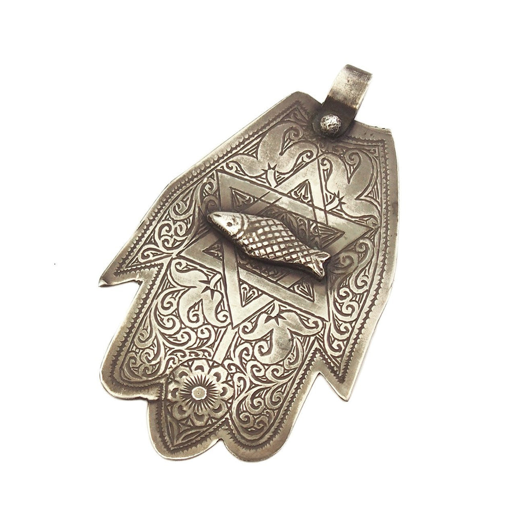 Moroccan Hamsa w/ Fish and Star of David