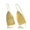 Gold Vermeil over Sterling Hand Hammered Earrings