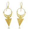 Gold Vermeil over Sterling Silver Brushed Earrings