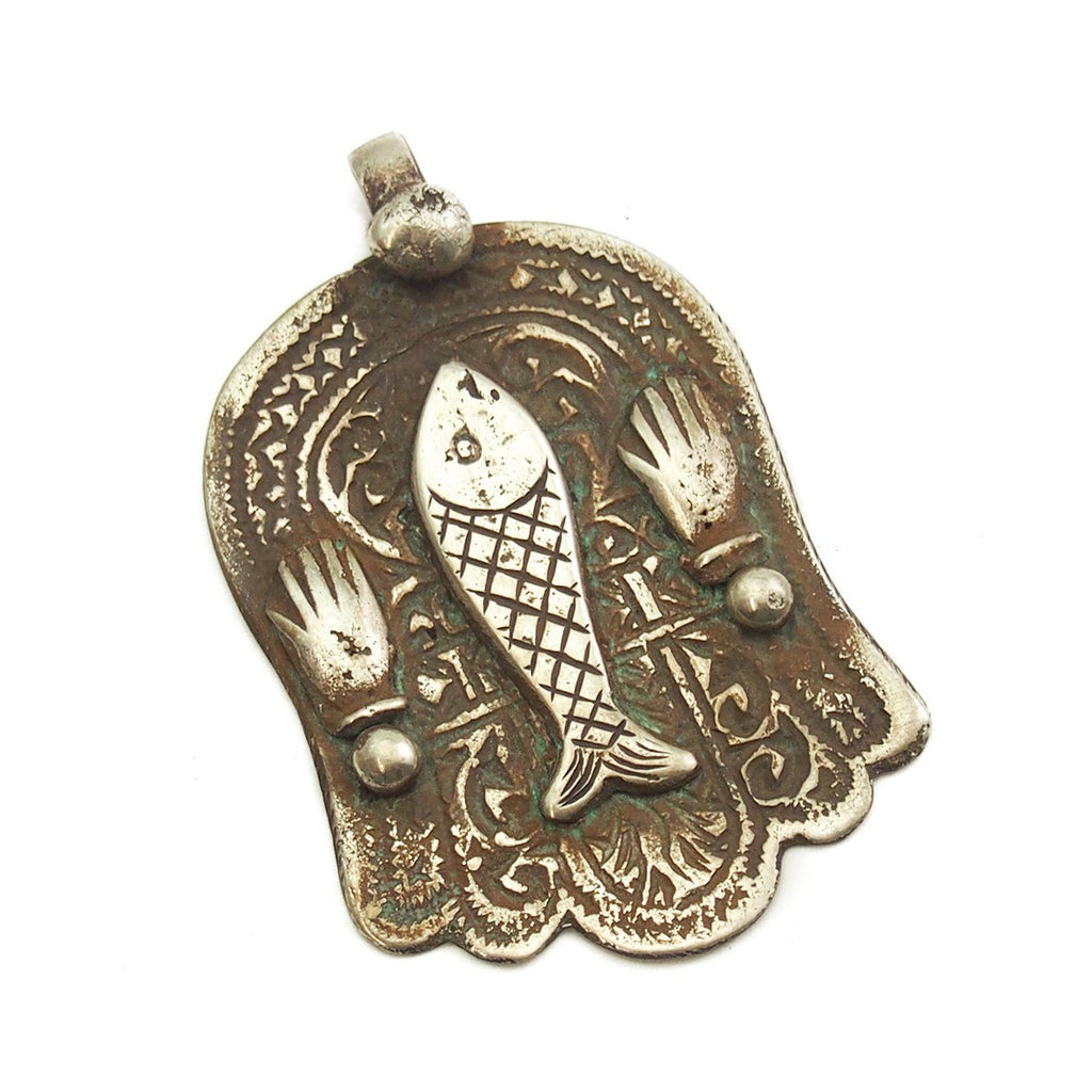Moroccan Hamsa w/ Fish and Hands Overlay