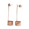 Copper Brushed Pole/Open Can Earrings