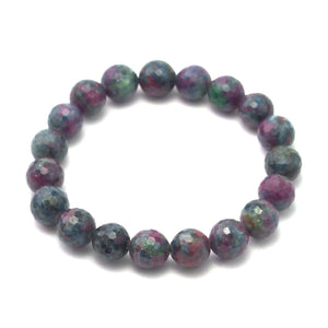 Ruby/Blue Zoisite Stretch Bracelet 10mm