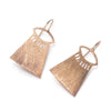 Rose Gold (18K) Brushed Temple Eye Earrings
