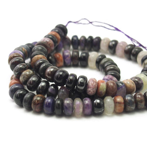 Sugilite Smooth Rondelles 8mm