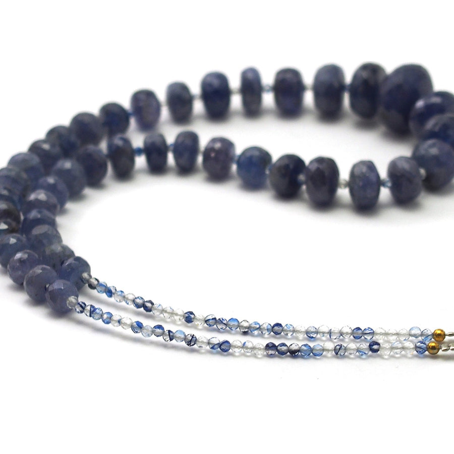 Tanzanite Faceted Rondelle Necklace