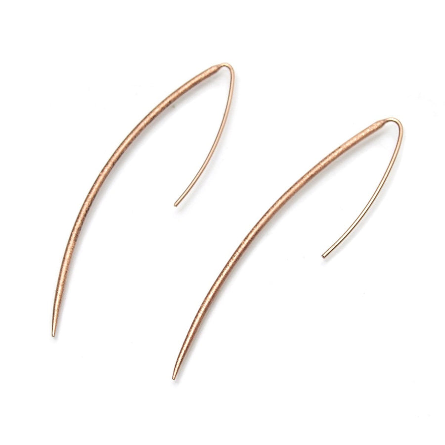 Rose Gold (18K) Brushed Pole Earrings
