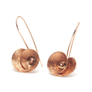 Rose Gold (18K) Brushed Flower Earrings