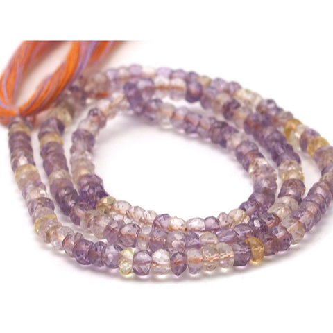 Ametrine Faceted Rondells 3.5mm