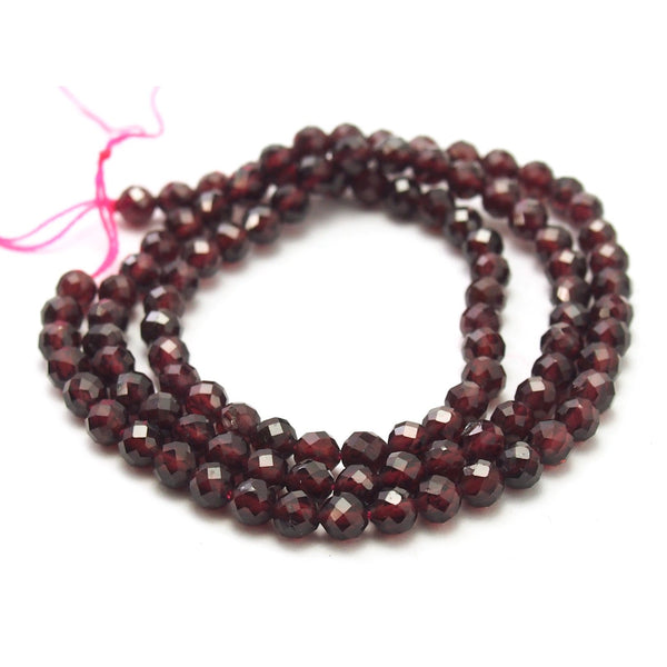 Garnet Faceted Rounds 4mm