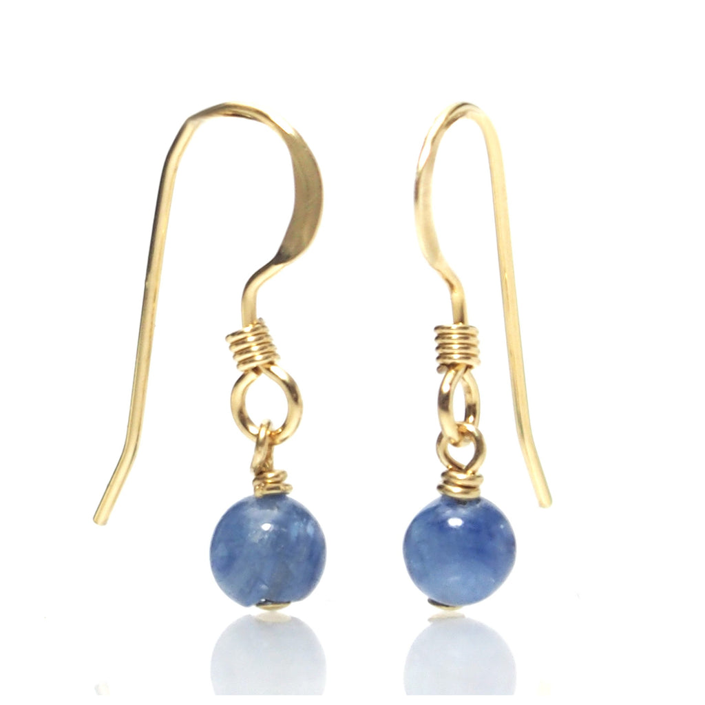 Kyanite Earrings with Gold Filled Ear Wires