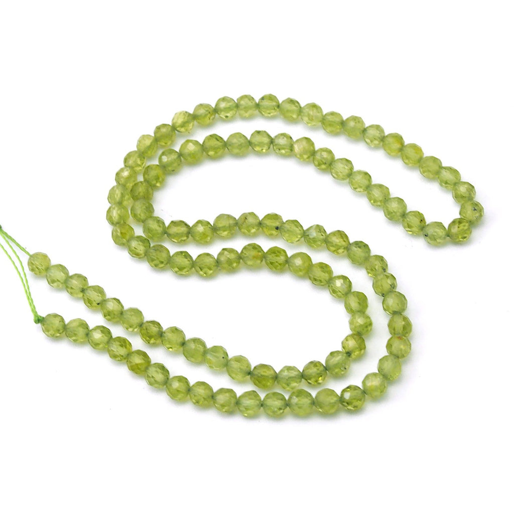 Peridot Faceted Rounds 4mm