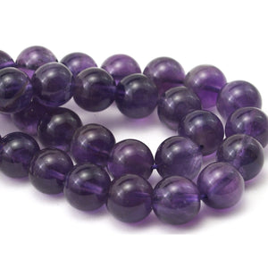 Amethyst Smooth Rounds 10mm