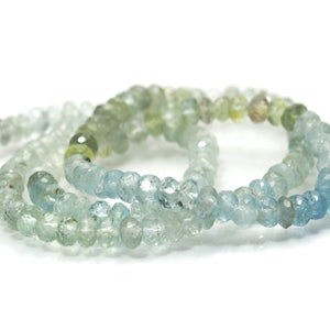 Aquamarine Faceted Rondelles 4.5mm Strand