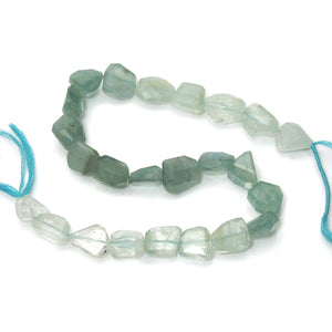 Aquamarine Faceted Chunks Strand