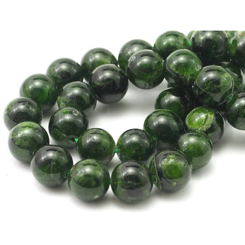 Chromium Diopside Smooth Rounds 12mm