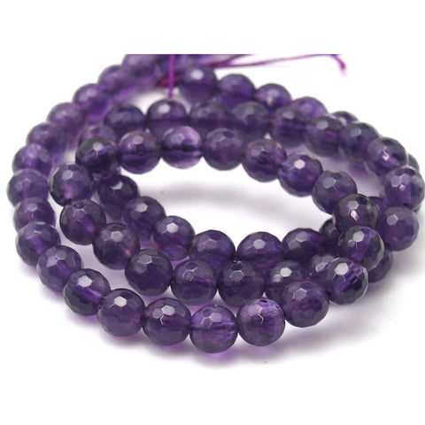 Amethyst Faceted Rounds 6mm