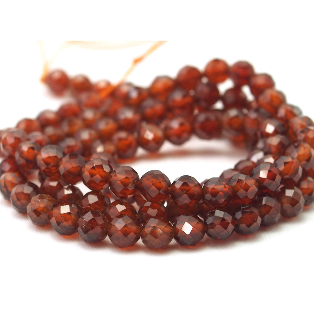 Citrine Bourbon Faceted Rounds 4mm