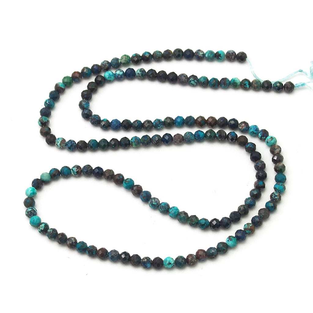 Chrysocolla Faceted Rounds 3mm
