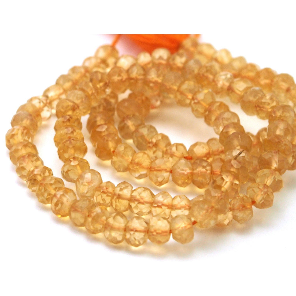 Citrine Faceted Rondells 4mm