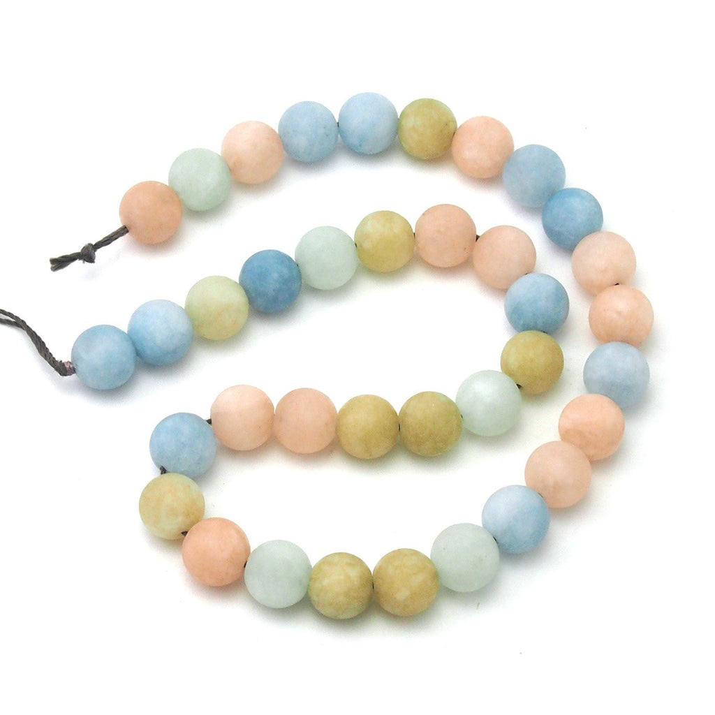 Aquamarine/Beryl Pastel Matte Rounds 10mm